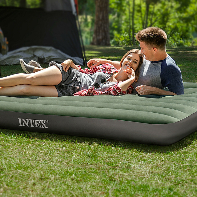 Airbed camping